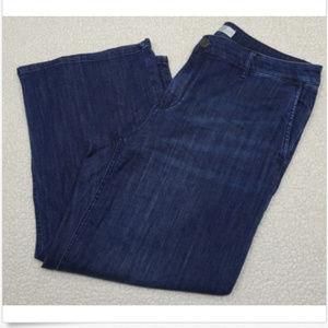 J. Jill Size 12 Full Leg Denim Crops Dark Wash